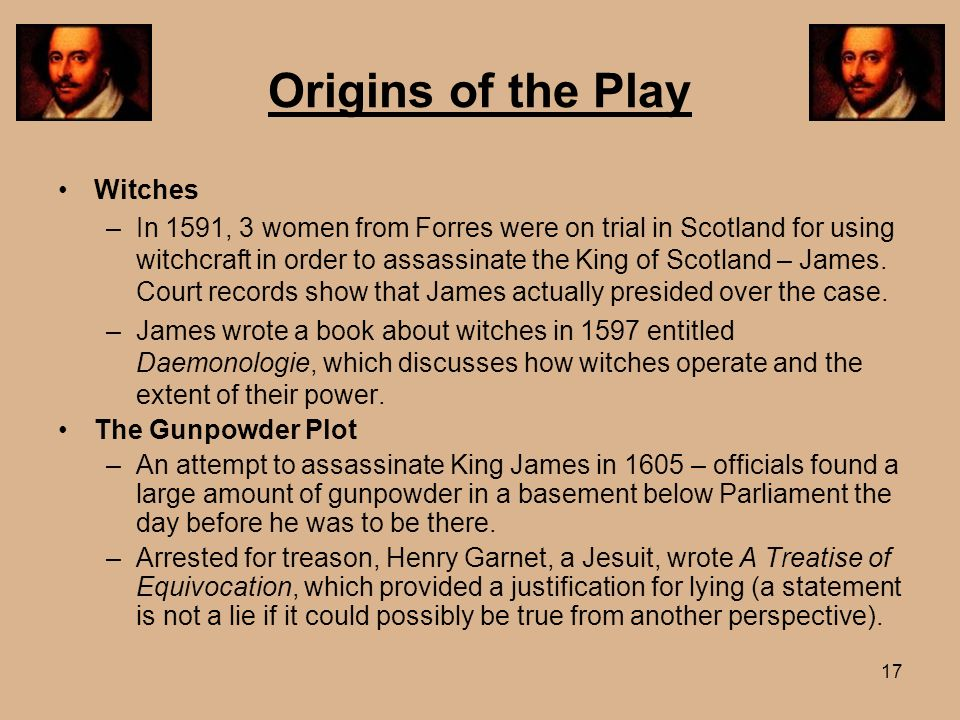 Origins of the Play Witches