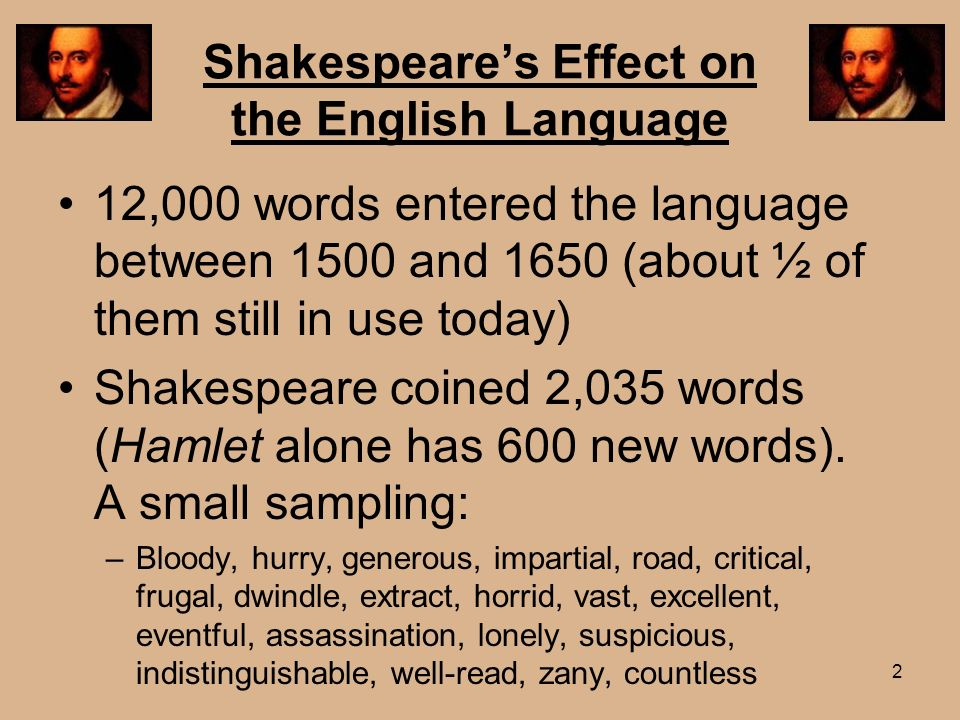 Shakespeare's Effect on the English Language