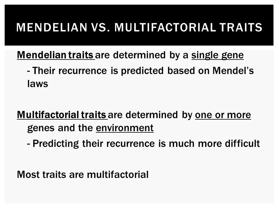 mendelian traits