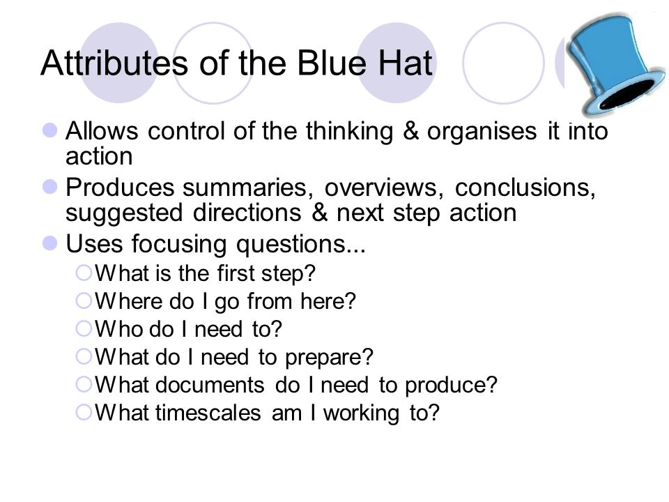 Attributes of the Blue Hat