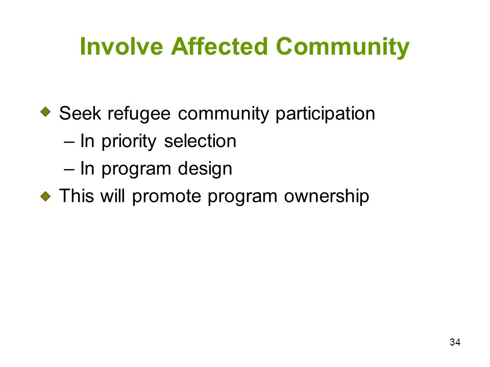 Involve Affected Community