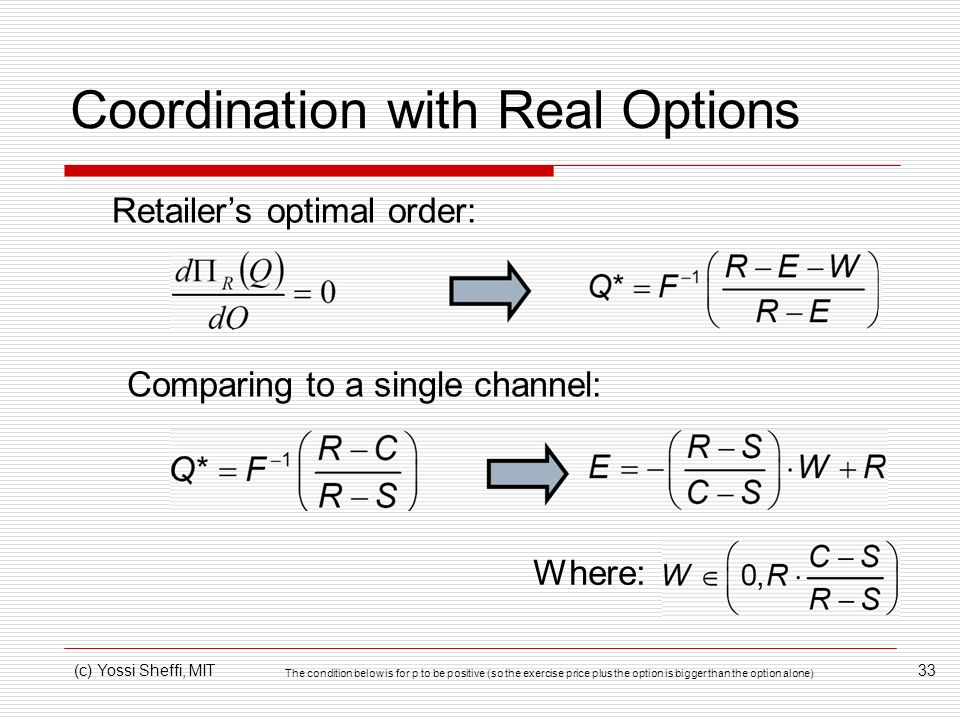 Coordination with Real Options