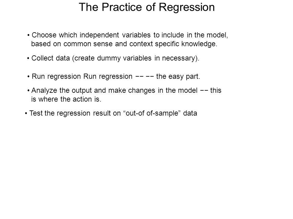 The Practice of Regression
