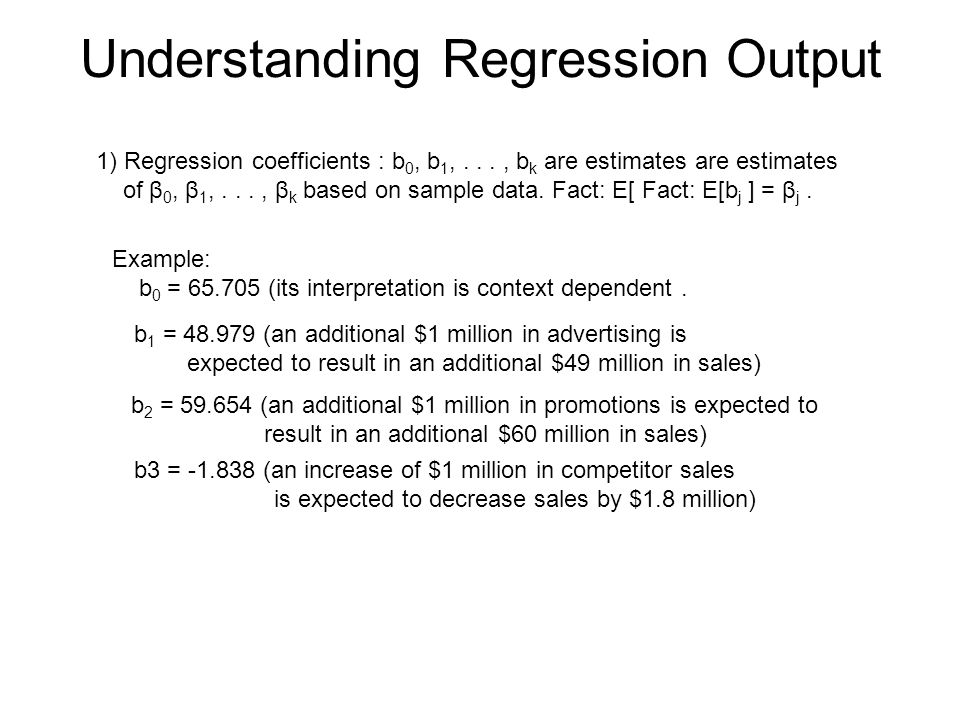 Understanding Regression Output
