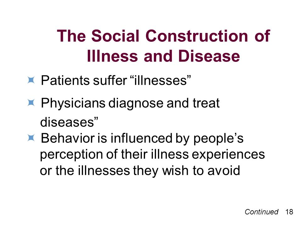The Social Construction of Illness and Disease