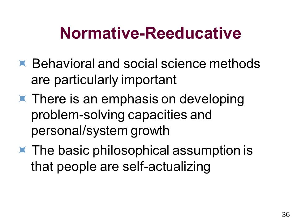 Normative-Reeducative