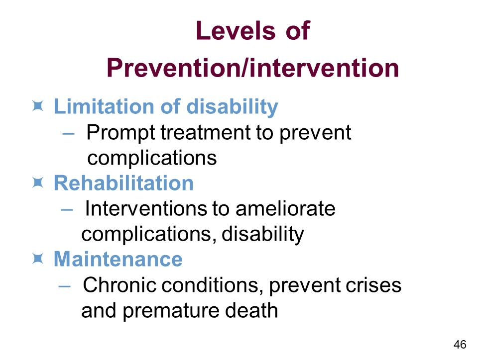 Prevention/intervention