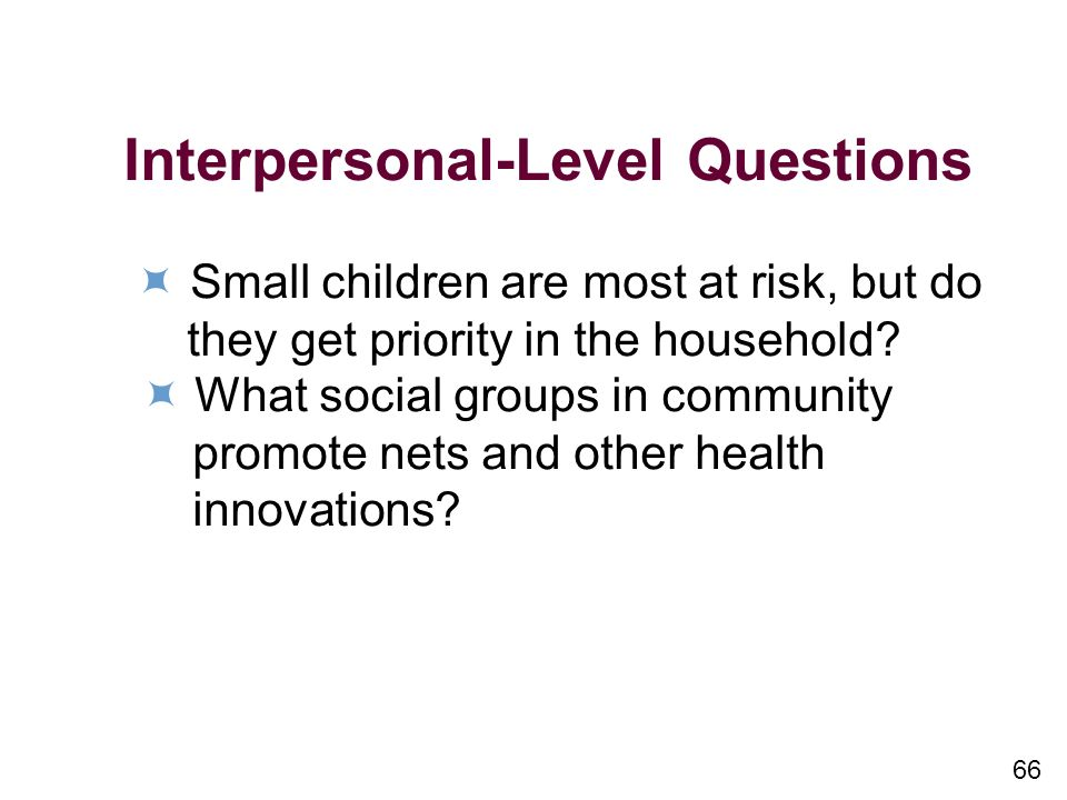 Interpersonal-Level Questions