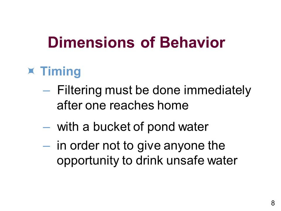 Dimensions of Behavior