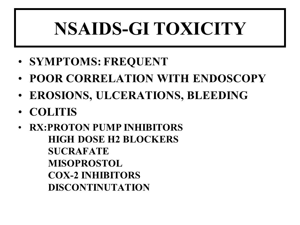 NSAIDS-GI TOXICITY SYMPTOMS: FREQUENT POOR CORRELATION WITH ENDOSCOPY