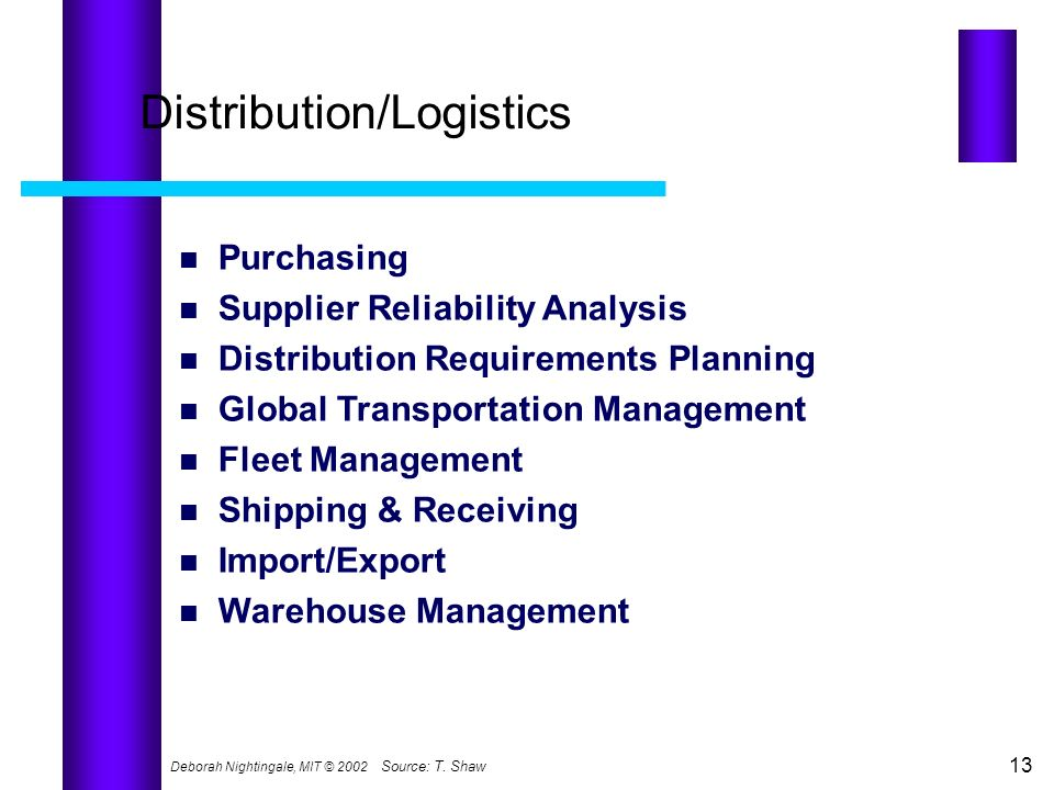 Distribution/Logistics