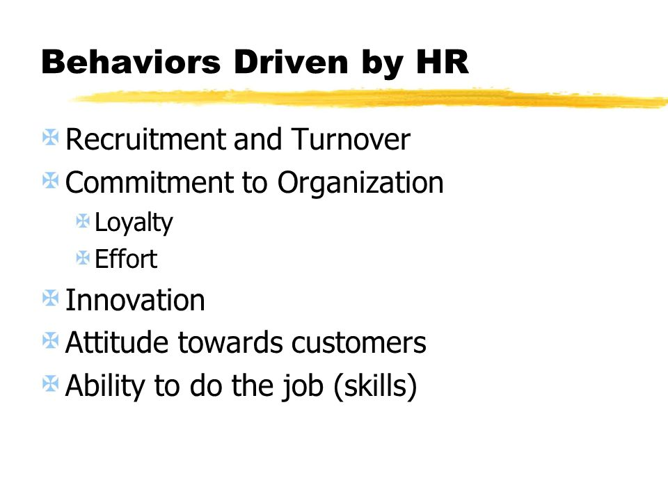 Behaviors Driven by HR Recruitment and Turnover
