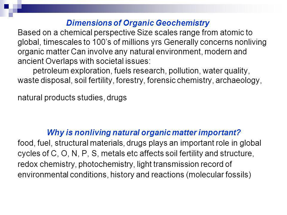 Why is nonliving natural organic matter important