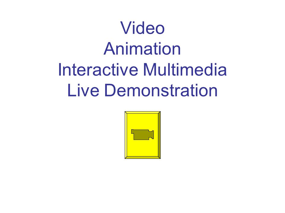Video Animation Interactive Multimedia Live Demonstration