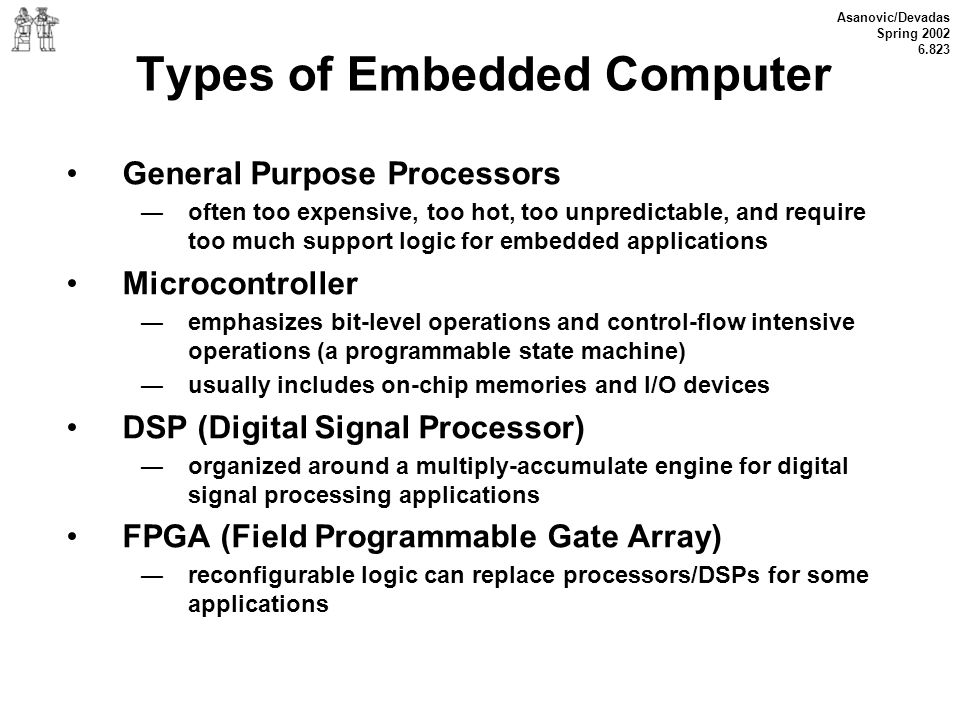 Types of Embedded Computer