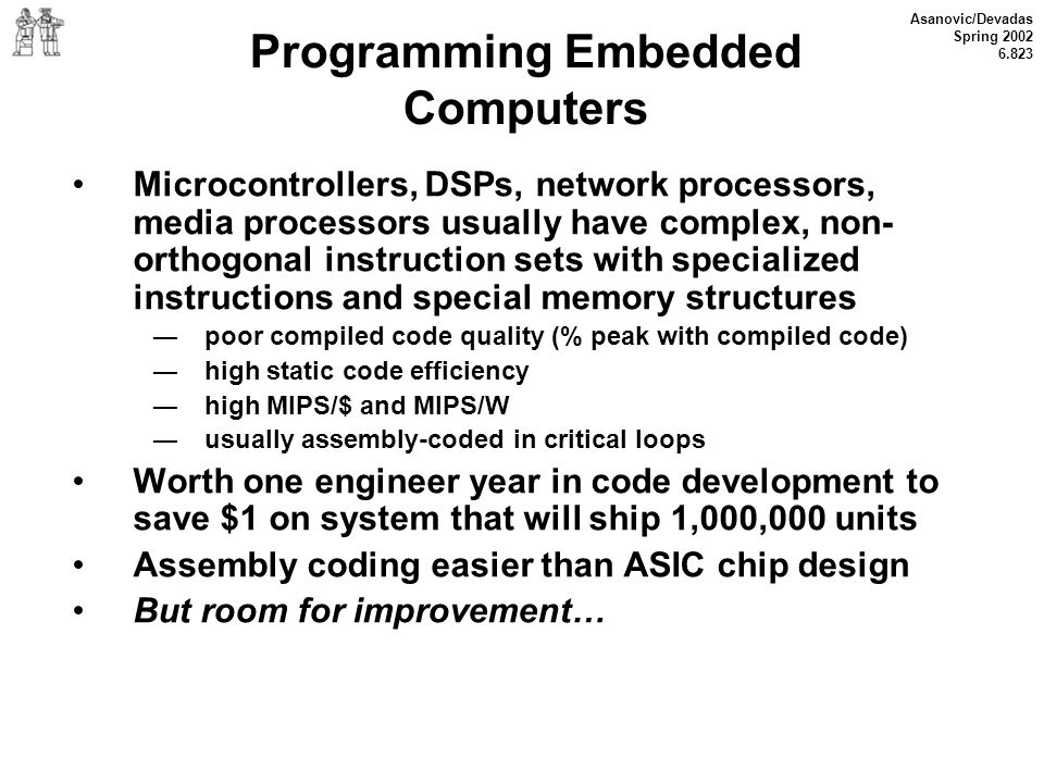 Programming Embedded Computers