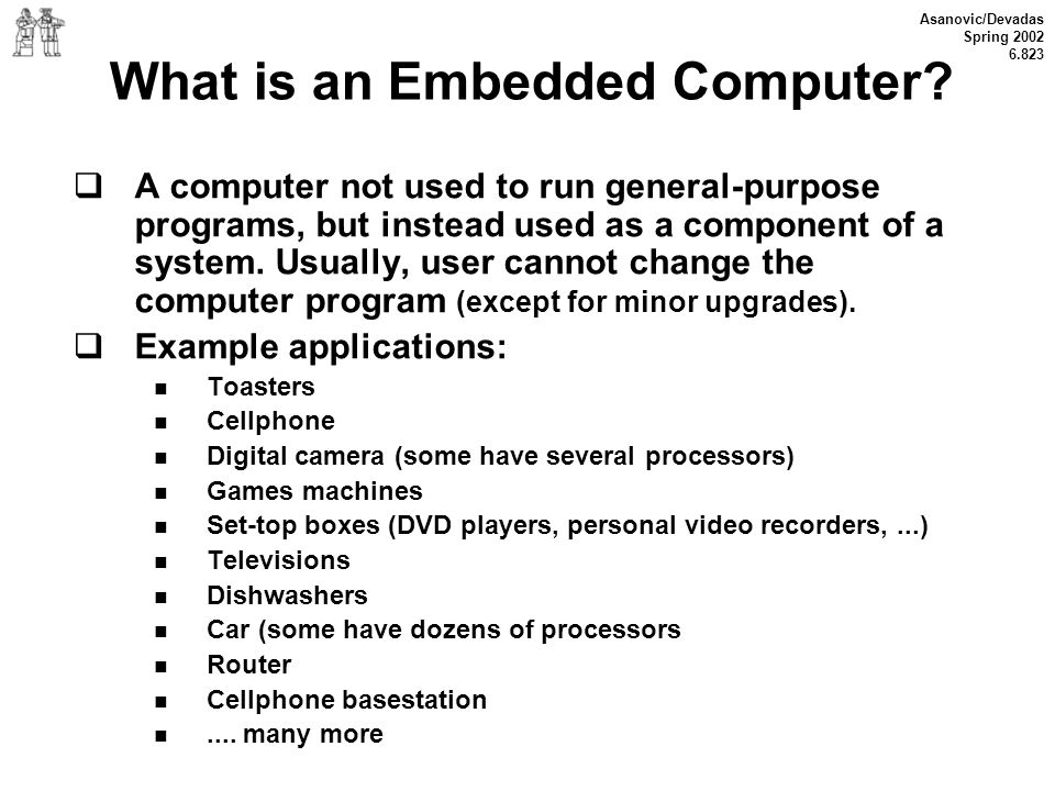 What is an Embedded Computer