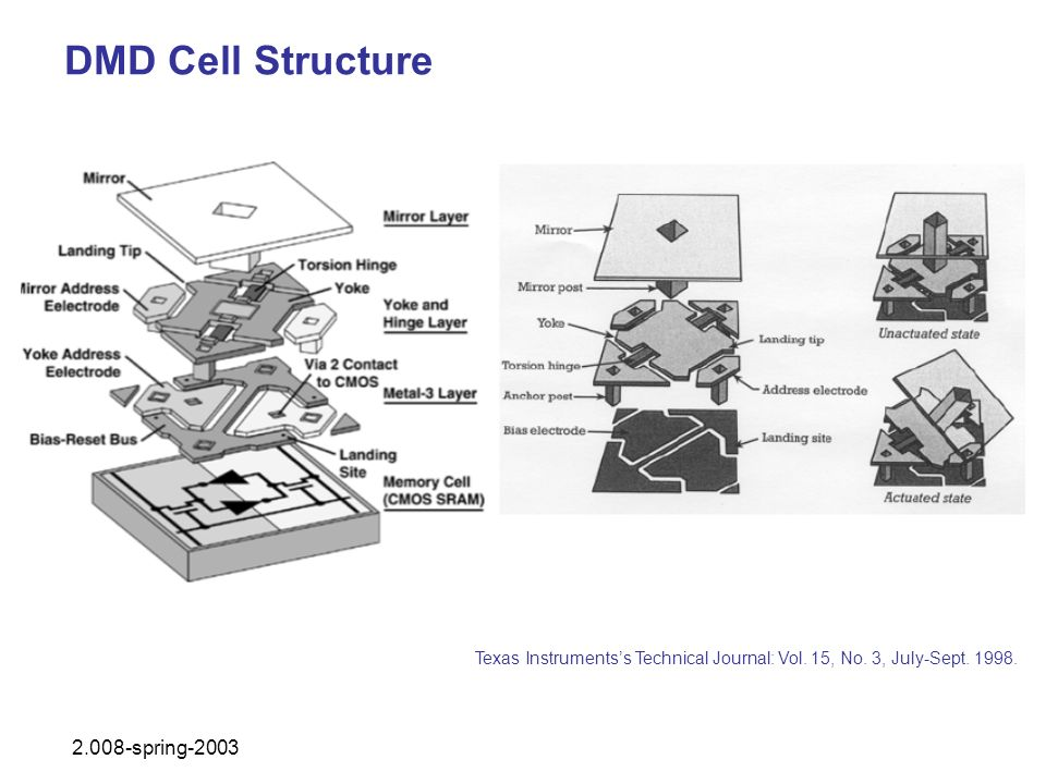 DMD Cell Structure 2.008-spring-2003