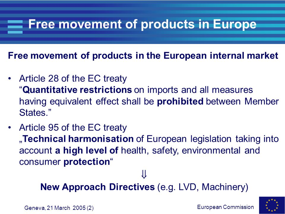 Free movement of products in Europe