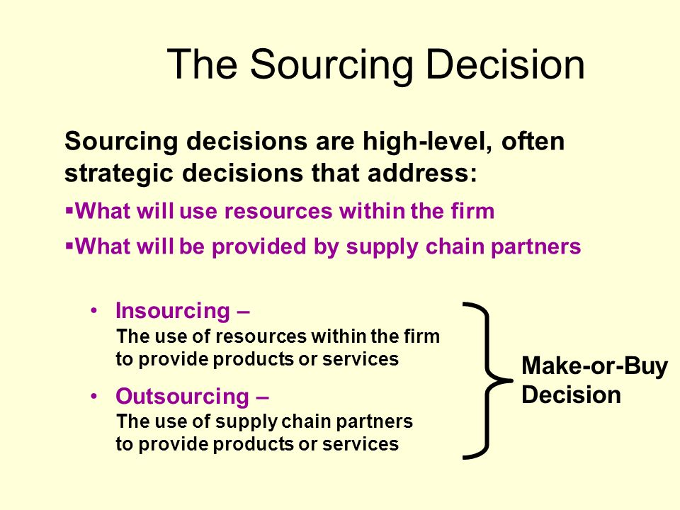 Sourcing Decisions  - ppt video online download
