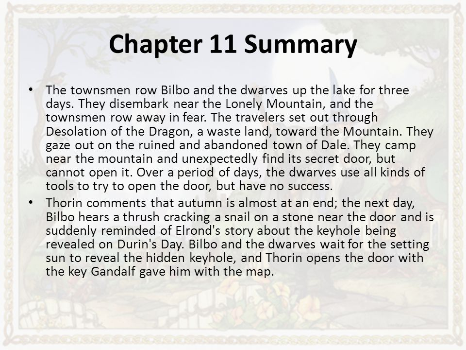 the hobbit chapter summaries ppt download