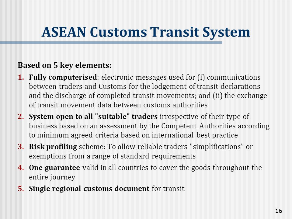 ASEAN Customs Transit System