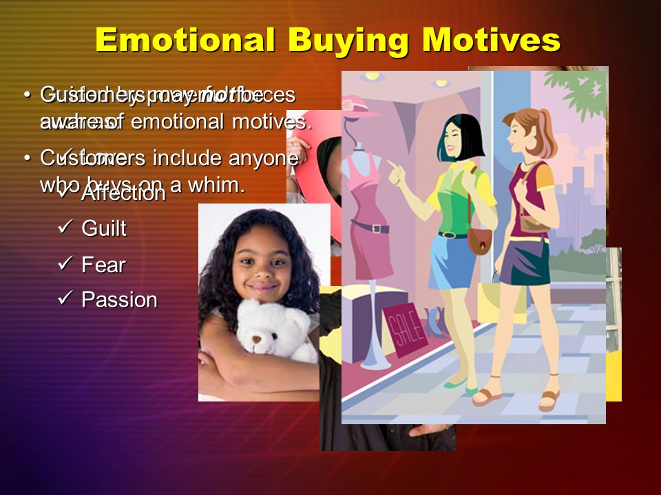 emotional buying motives