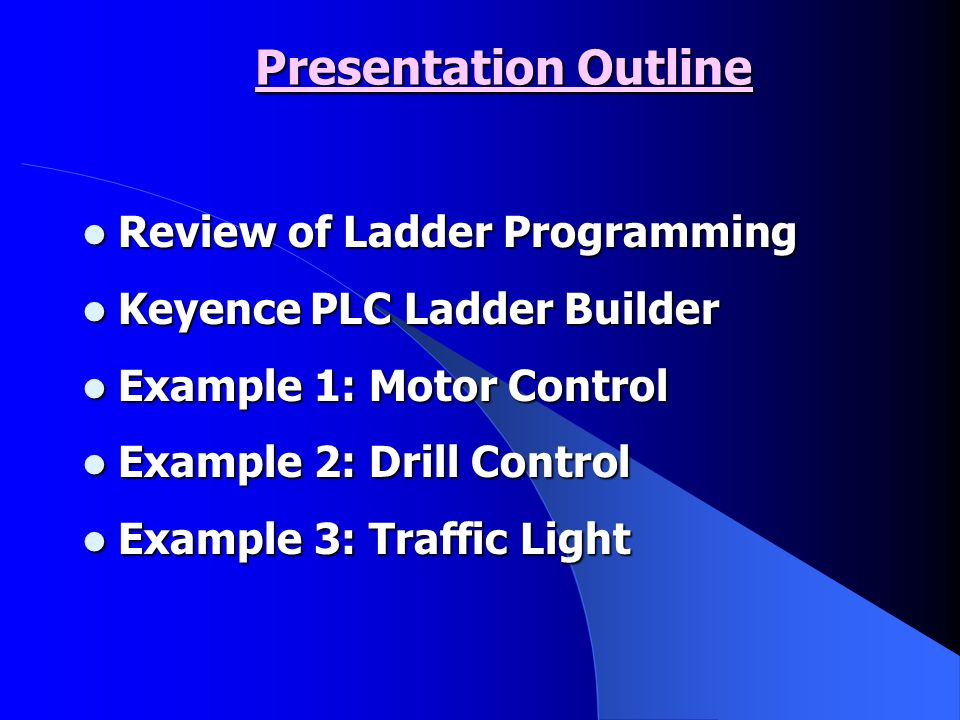 Programming PLCs using LADDER Logic - ppt download