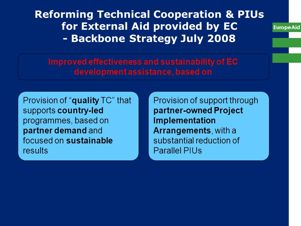 Reforming Technical Cooperation & PIUs for External Aid provided by EC