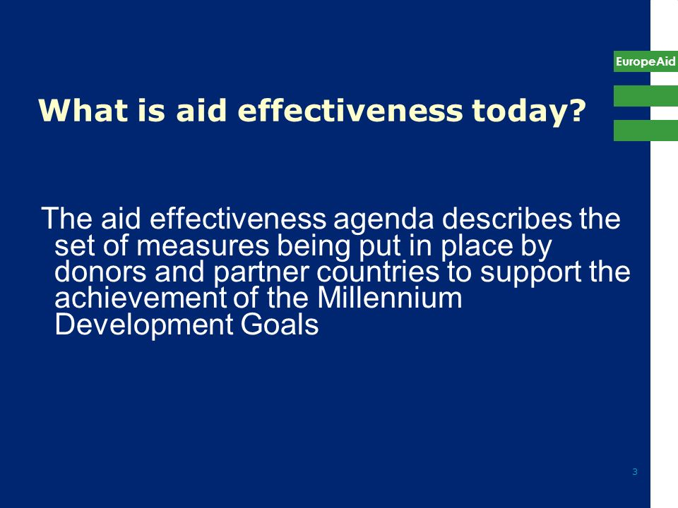 What is aid effectiveness today