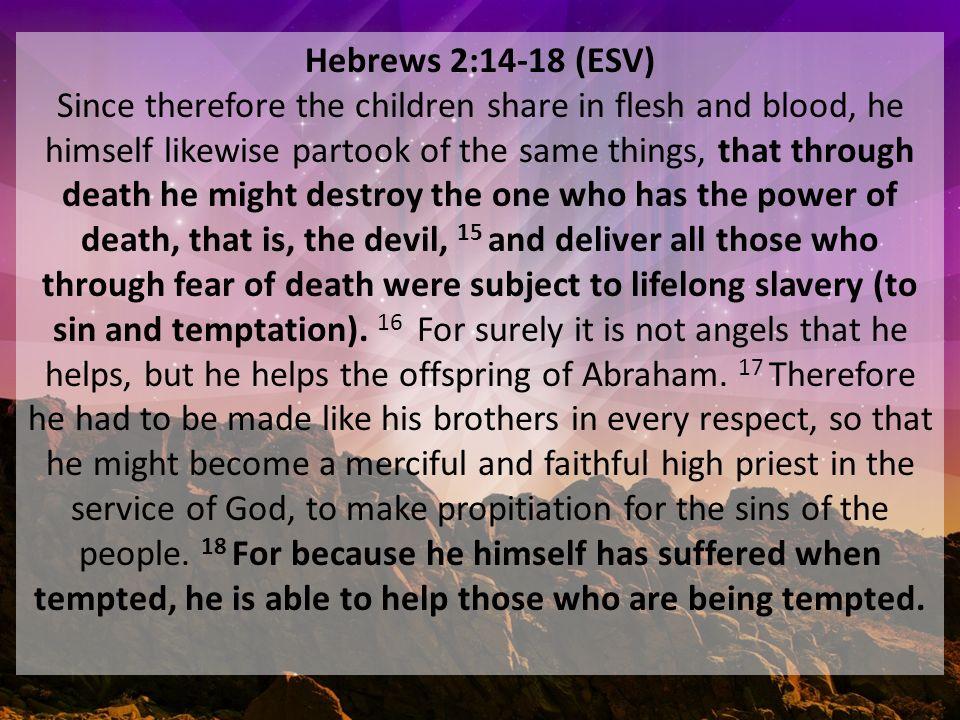 Kuvahaun tulos haulle Hebrews 2:14