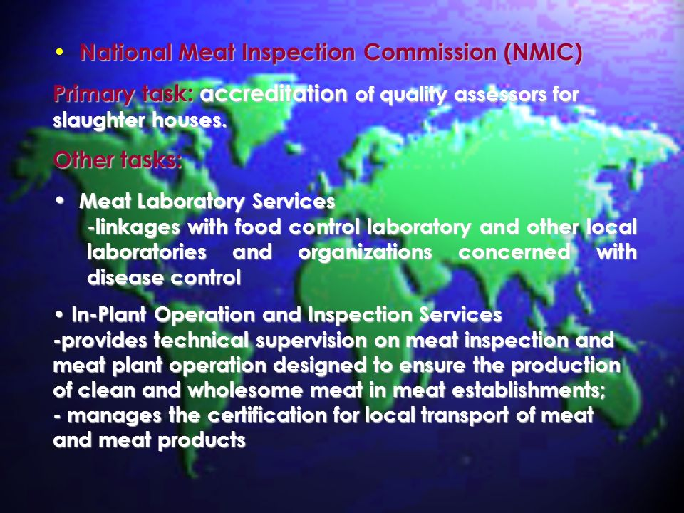 National Meat Inspection Commission (NMIC)