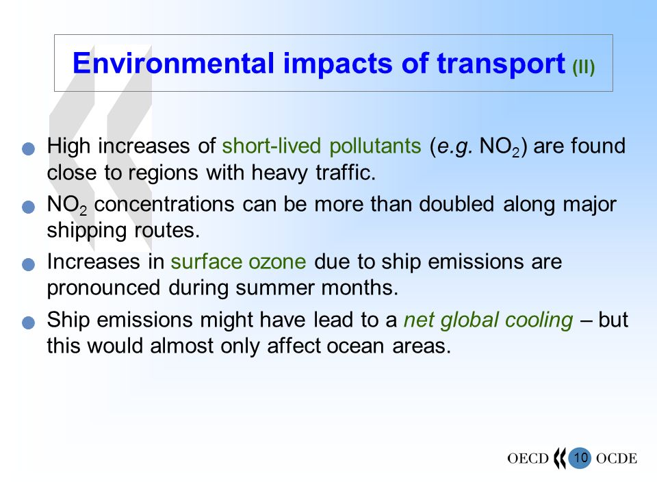 Environmental impacts of transport (II)