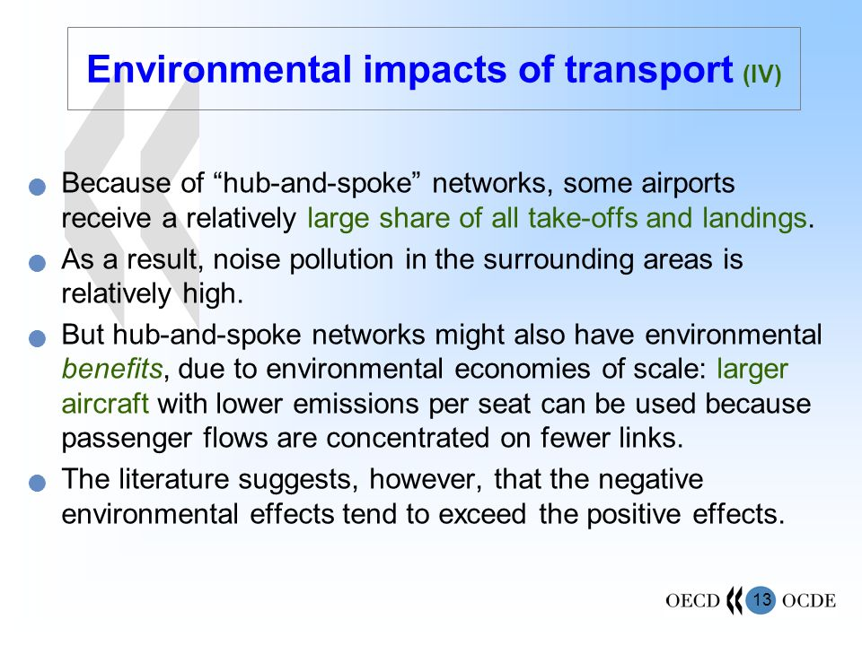 Environmental impacts of transport (IV)