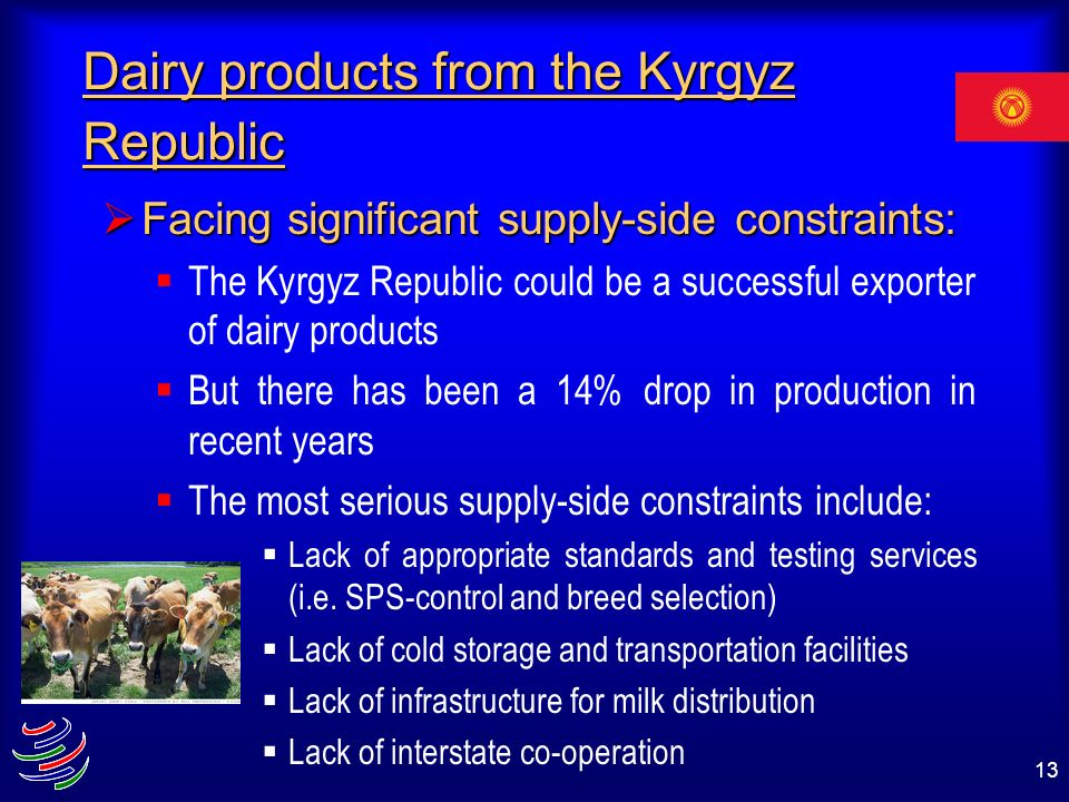 Dairy products from the Kyrgyz Republic