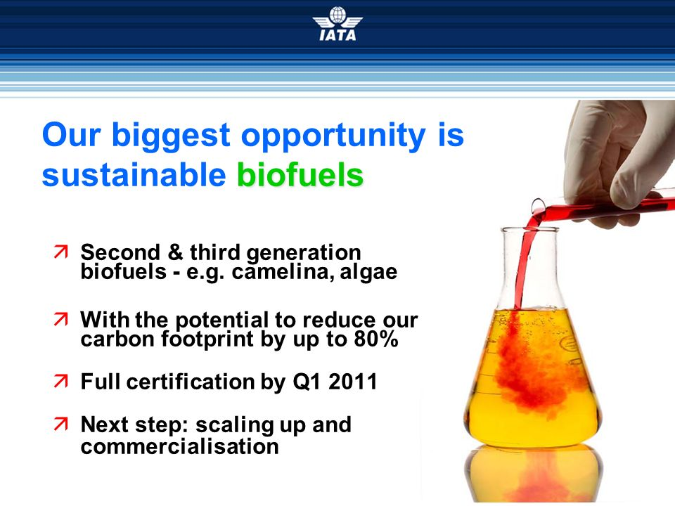Our biggest opportunity is sustainable biofuels