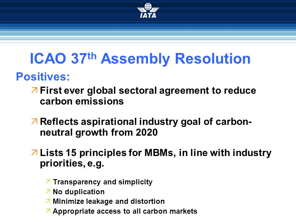 ICAO 37th Assembly Resolution