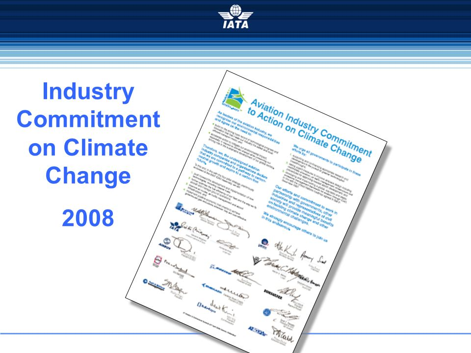 Industry Commitment on Climate Change