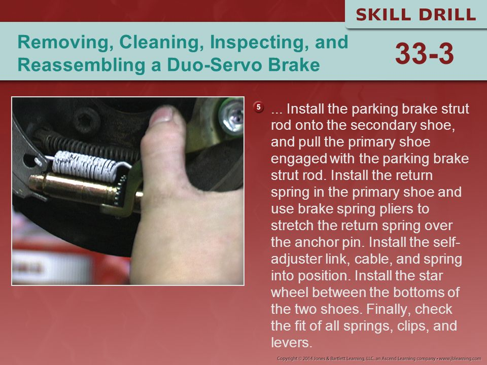 Removing, Cleaning, Inspecting, and Reassembling a Duo-Servo Brake