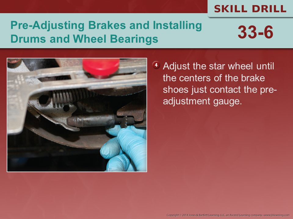 Pre-Adjusting Brakes and Installing Drums and Wheel Bearings