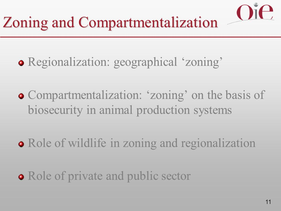 Zoning and Compartmentalization