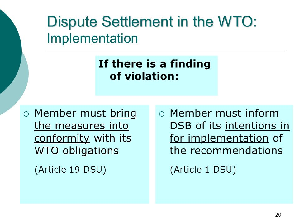Dispute Settlement in the WTO: Implementation