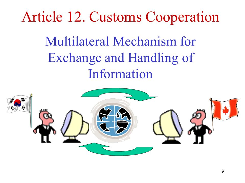 Article 12. Customs Cooperation