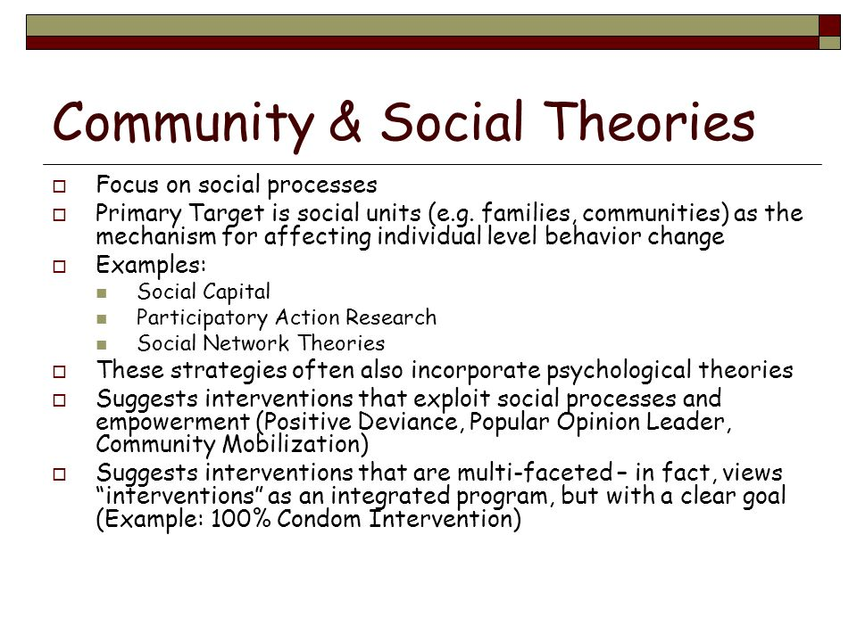 Community & Social Theories