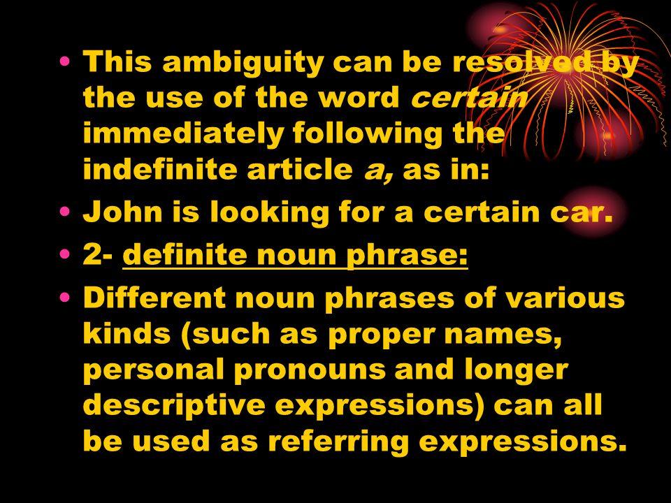 descriptive expressions