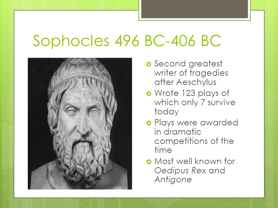 why did sophocles write oedipus rex