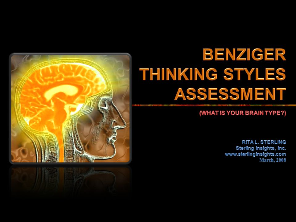 benziger personality test