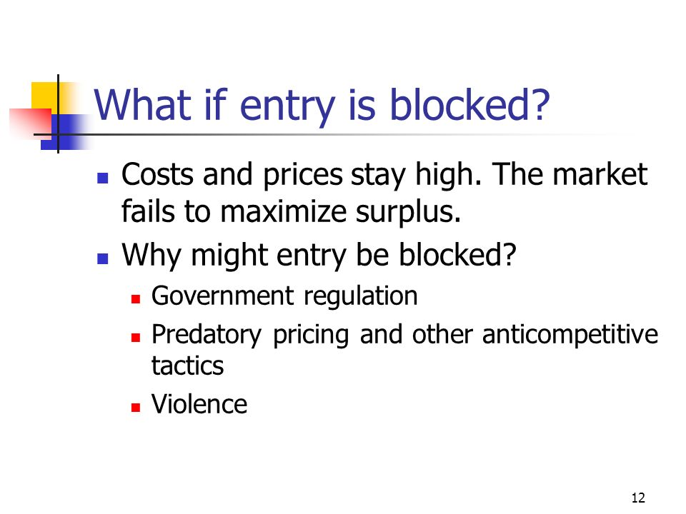 What if entry is blocked