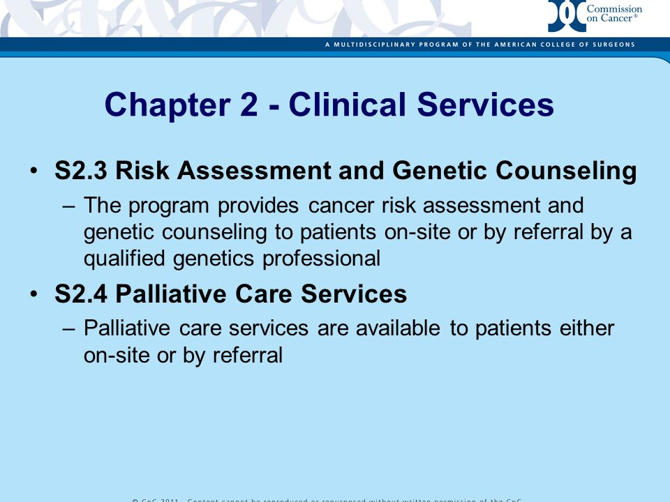 Chapter 2 - Clinical Services