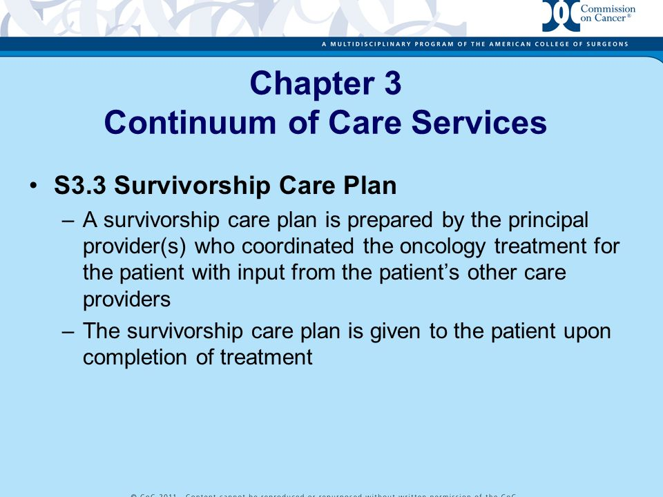 Chapter 3 Continuum of Care Services